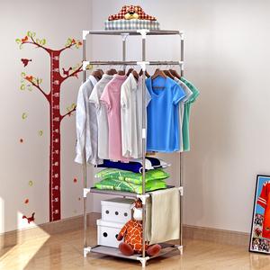 索尔诺 衣帽架 落地挂衣架 创意衣服架卧室门厅储物简易铁艺衣架