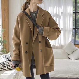 反季清仓短款毛呢大衣女2020秋冬新款韩版流行百搭小个子呢子外套