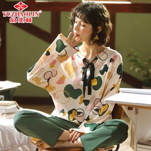 俞兆林睡衣女春秋款长袖纯棉韩版清新学生薄款夏季全棉家居服套装
