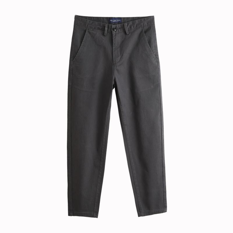 夏季休闲男士修身小脚纯棉直筒裤质量好不好