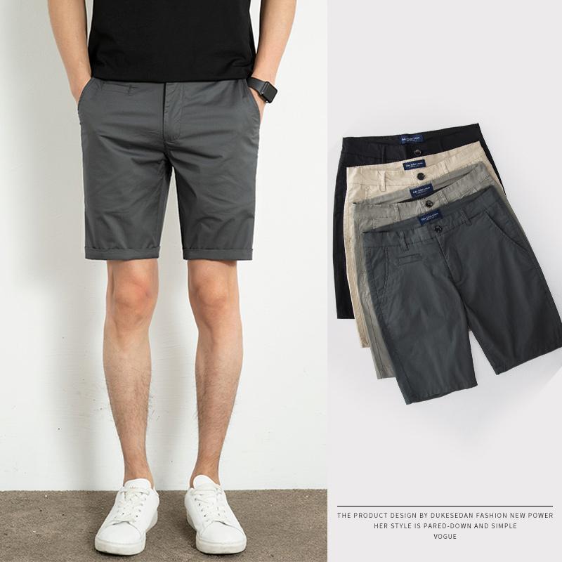 夏季男士冰丝短裤男休闲宽松直筒中裤纯色七分裤工装五分裤男超薄