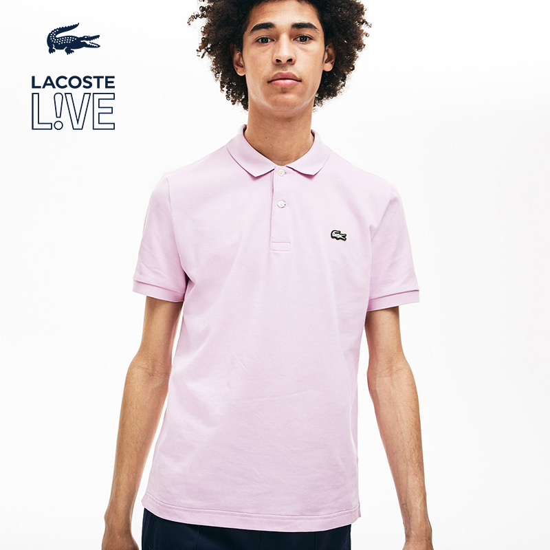 Lacoste French crocodile l! Ve couple 19 spring / summer fashion simple short sleeve polo ph3655m1