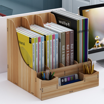 办工桌置物架省空间文件架办公用品桌面文件夹收纳盒办公室置物架
