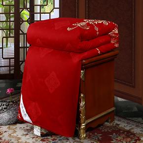 婚庆被芯绣花全棉大红百子喜被结婚龙凤蚕丝被双人加厚冬被子10斤