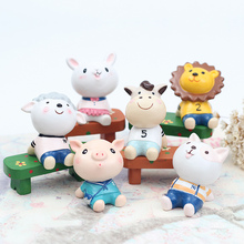 Creativity looks up to cute animals table top small ornaments household ornaments living room porch car ornaments car small ornaments