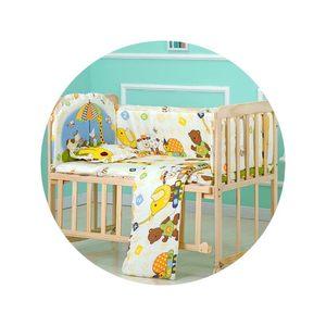 小乐娃婴儿床床围120*65床品套件被子褥子枕头儿童防撞纯棉可拆洗