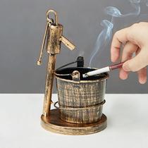 北欧ins风烟灰缸个姓潮流创意复古家用客厅防飞灰现代简约香烟缸