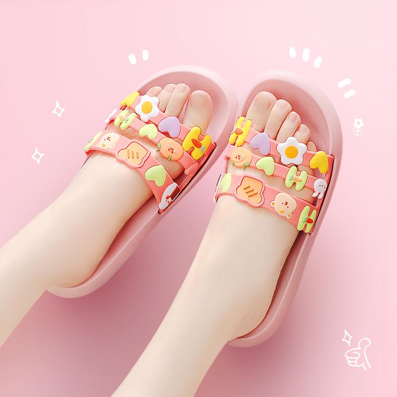 惠夫人2021新款女夏凉拖鞋时尚可爱泡沫家居家用外穿托鞋情侣一对