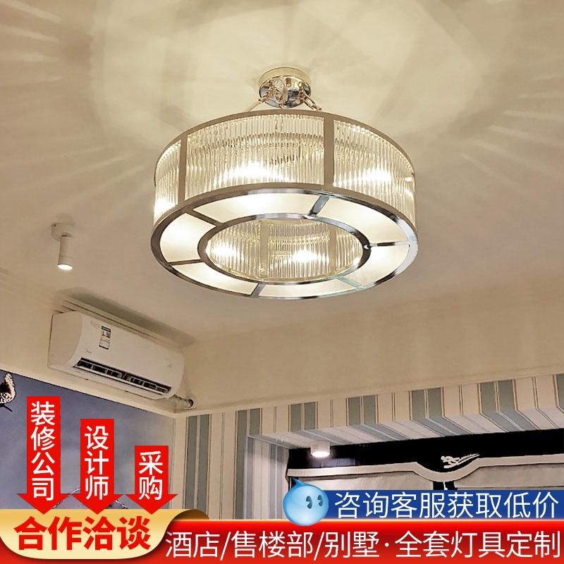 非标定制酒店大堂豪华别墅大型餐厅工程灯客厅售楼部沙盘水晶吊灯