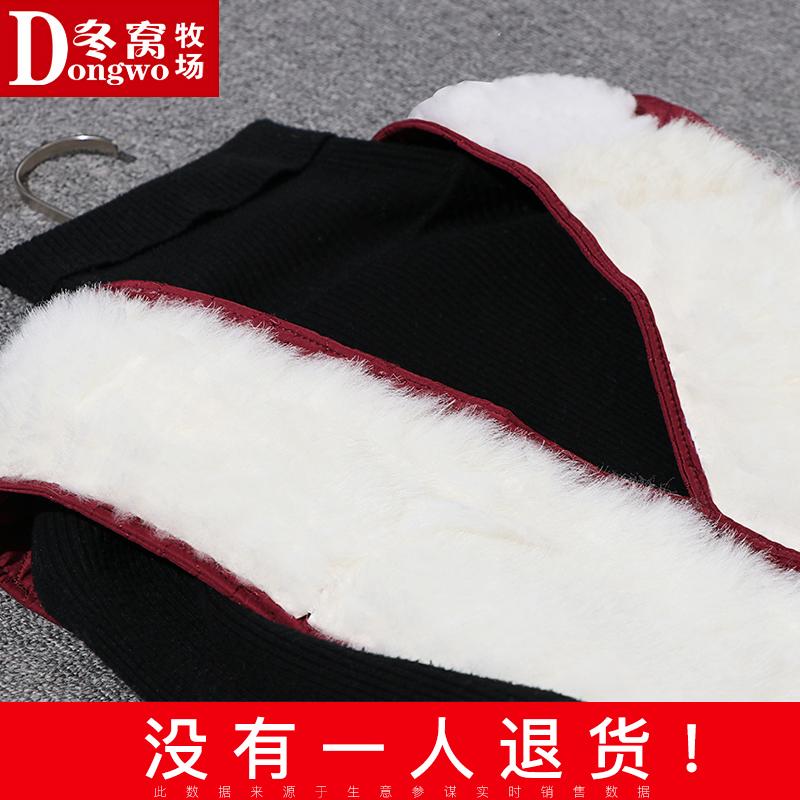 秋冬羊毛马甲女皮毛一体妈妈装马甲背心奶奶中老年人女装坎肩棉衣