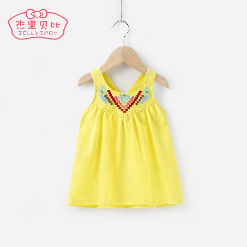 女童夏天兒童女寶寶吊帶裙