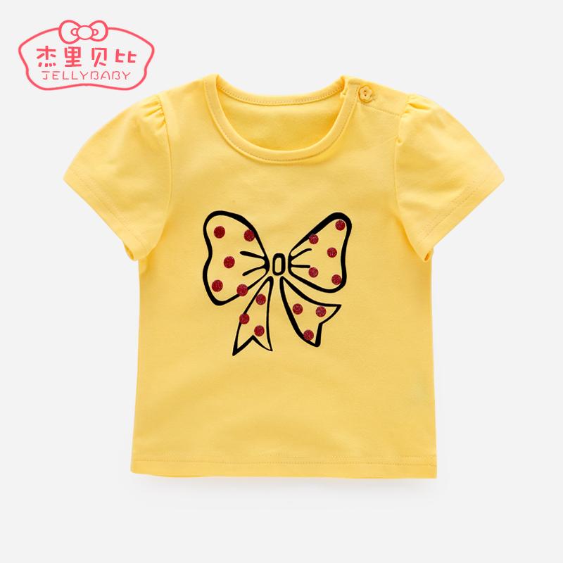 2016女童短袖上衣3一歲兒童夏裝嬰兒 夏天衣服1~5女寶寶t恤夏