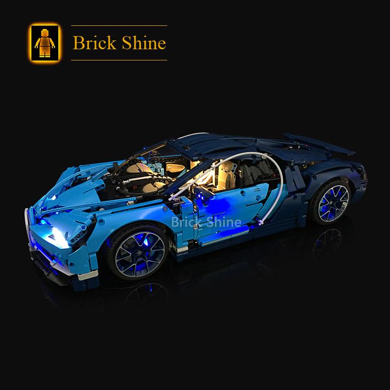 BS积木灯饰 适用乐高42083布加迪 LED灯光灯饰灯具 赛车CHIRON