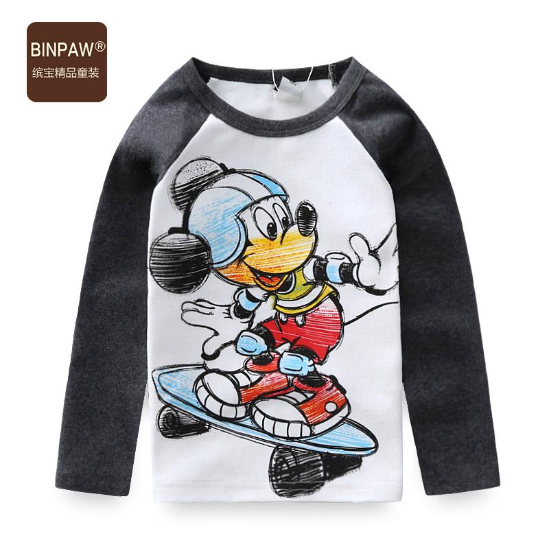 兒童純棉長袖T恤 2016 卡通圓領寶寶 秋裝上衣 男童T恤