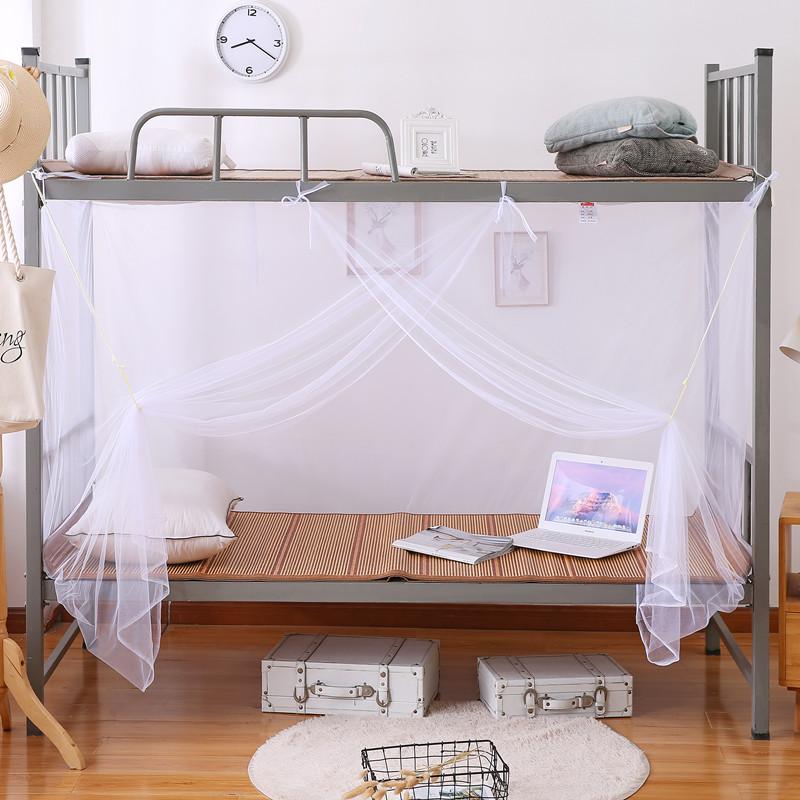 蚊帐学生宿舍单双人床0.9米1.2m寝室上下铺通用加密防尘顶1.5家用