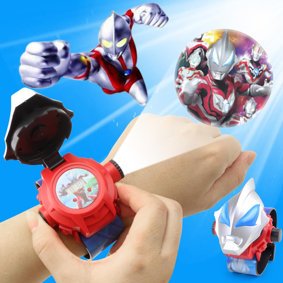 儿童玩具投影手表男孩学生卡通奥特曼超人幼儿园女孩可爱电子手表