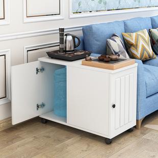 边几角几收纳客厅沙发旁置物柜侧边储物多功能小桌子可移动茶几价格