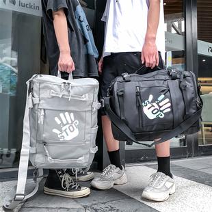 双肩包2020年新款男时尚潮流大容量高中学生书包休闲电脑旅行背包图片
