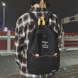 中学生书包男复古ins初中生高中生帆布双肩包女休闲韩版校园背包