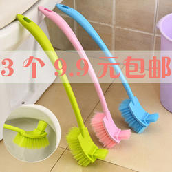 双面加厚长柄去死角马桶刷 厕所刷子 卫生间清洁弯曲缝隙刷卫生刷