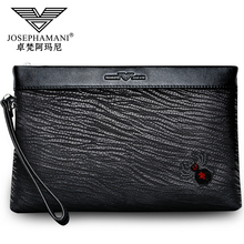 Zhuofan Armani 2019 New Fashion Men's Handbag, Leather, Cowhide, Leisure Business Men's Envelope Handbag