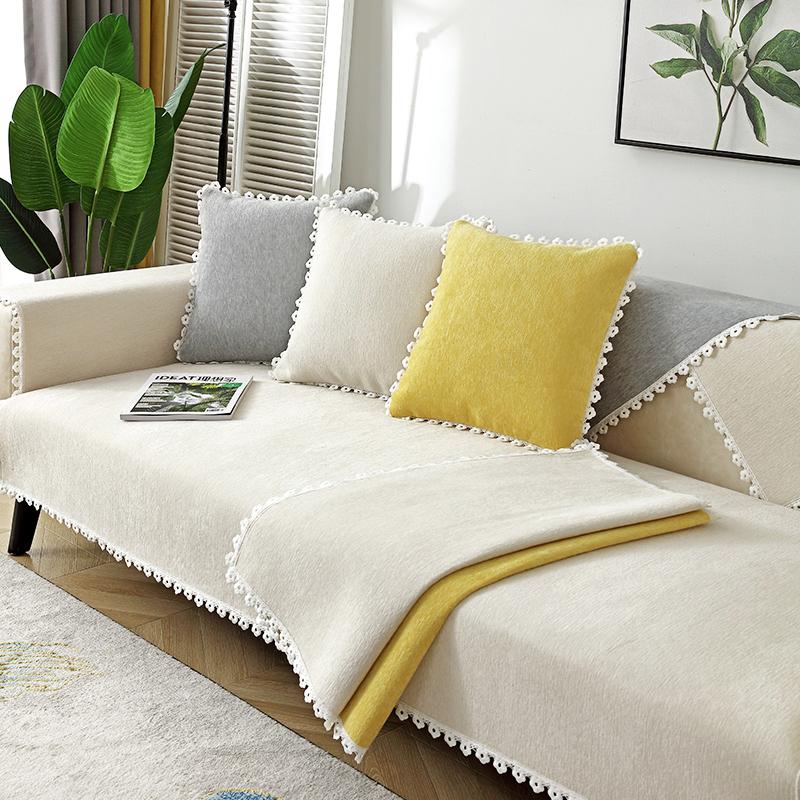 北欧雪尼尔沙发垫四季防滑罩坐垫子质量如何