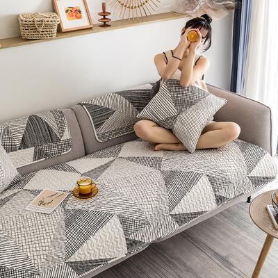 北欧现代简约纯棉全棉沙发垫组合四季通用沙发套罩盖巾防滑定做