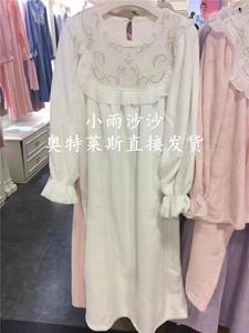 专柜正品 嘉德丽亚 CHW4S901C1 加厚珊瑚绒长袖睡裙 2680特价