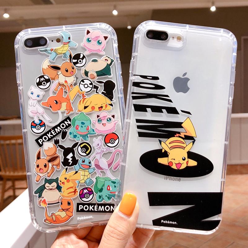 皮卡丘iPhonexsmax手机壳宠物小精灵适用苹果8plus透明套xr软壳6s