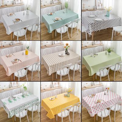 Tablecloth waterproof, oil-proof, anti-scalding disposable pvc table cloth fabric Nordic net red ins rectangular table cloth coffee table mat