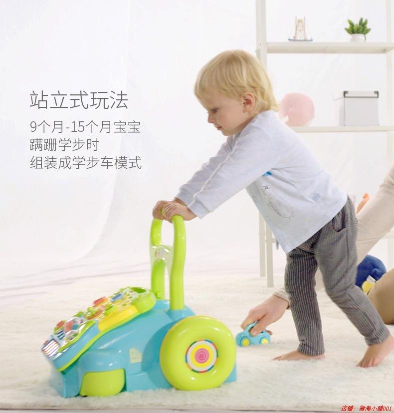 谷雨婴儿手推车 宝宝多功能音乐学步车 儿童防侧翻助步车171.52元包邮