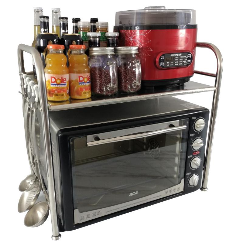 不锈钢微波炉架烤箱架厨房置物架层架收纳架调料架储物架