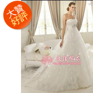 2015 new foreign trade in Europe and America wedding dress tutu trailing diamond imports gauze top luxury palace