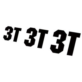 3T logo贴纸山地车公路车架轮组轮圈碳刀贴纸单车贴反光定制防水图片