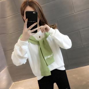 外套 春装 女装 宽松女士卫衣春秋薄款 韩版 ins潮上衣春季 2020年新款