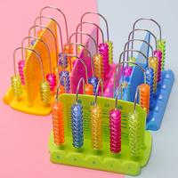 儿童铁杆计数器5行10珠教具6-7-8岁小学生一年级数学学习板计算架