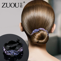 Hairpin Korean headwear adult hundred elegant rhinestone twist clip Bud head lady disk top clip meatballs hair decoration