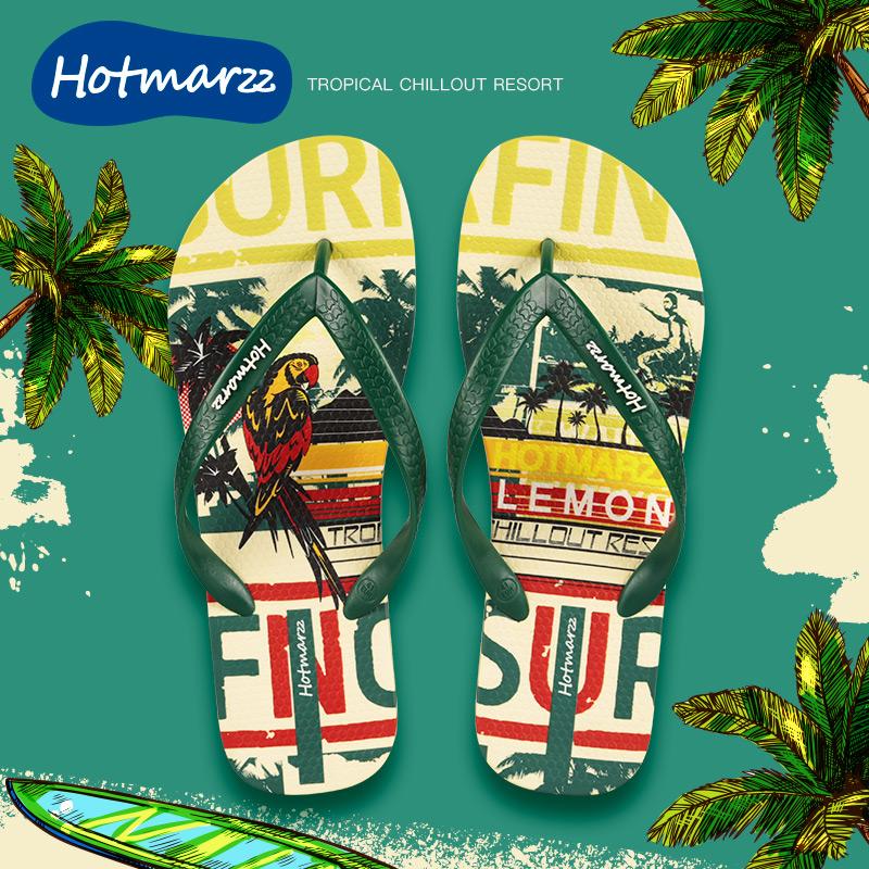 夏季人字拖个性室外沙滩潮流韩版防滑2020新款外穿凉鞋凉拖鞋男士