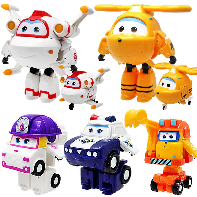 超级飞侠玩具套装全套变形机器人小号贝警员米克小柔大号奇奇朗朗
