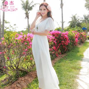 沙滩裙女显瘦仙波西米亚长裙雪纺泰国普吉岛三亚海边度假夏连衣裙