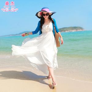 新款波西米亚长裙沙滩裙雪纺连衣裙