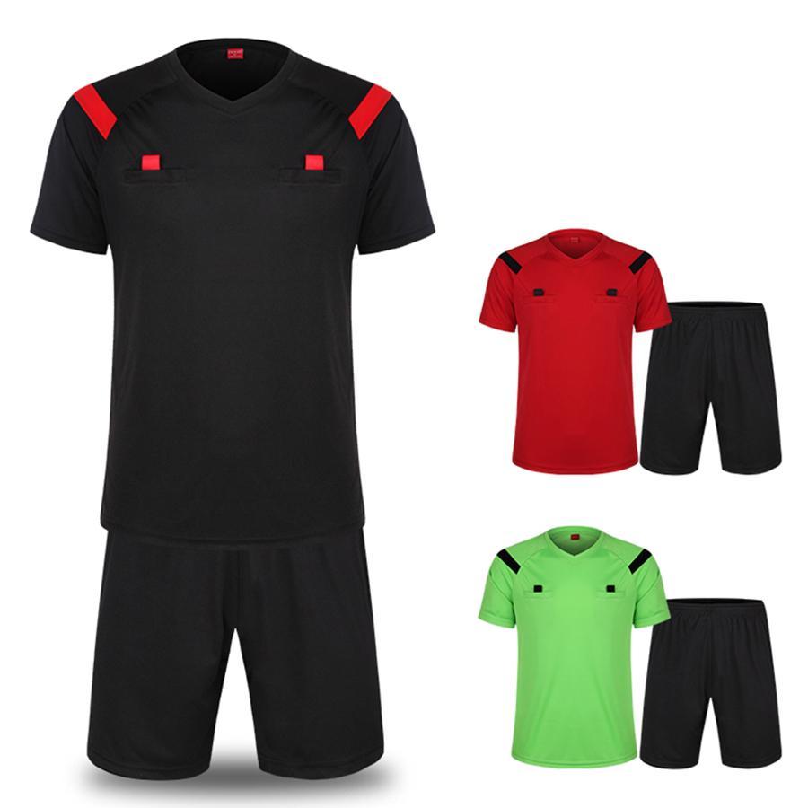 Футбольный судья комплект мужские и женские короткий рукав Твердый цвет профессиональный игровой футбольный судья поставляет оборудование для судей Джерси