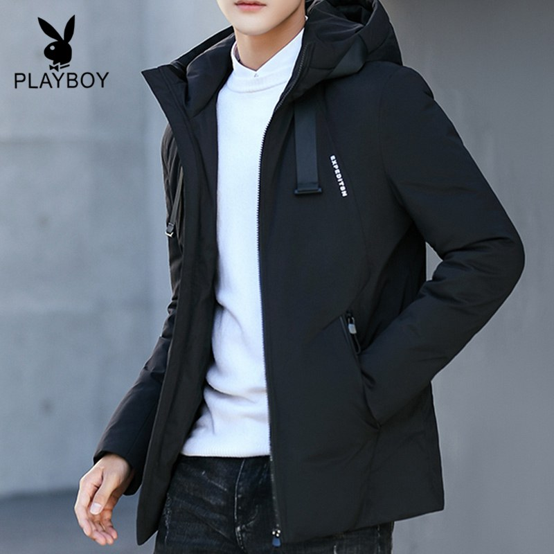 Playboy down jacket men's tide brand 2020 new brand short winter clothing trend handsome autumn and winter jacket