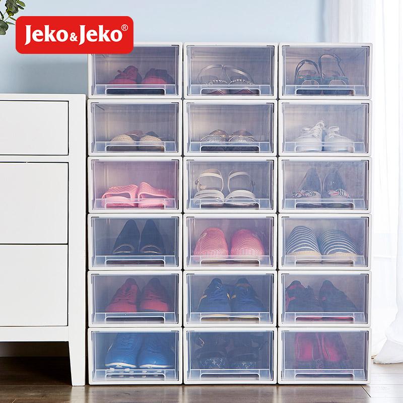 需要用券aj鞋盒收纳盒塑料防氧化全透明抽屉单个装家用加厚抽屉式鞋子收纳