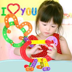 儿童启蒙早教1拼插2条形积木4幼儿园5宝宝7益智桌面拼装玩具3-6岁