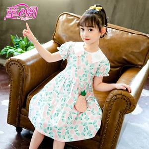 女童薄款纯棉连衣裙中大童菠萝裙子