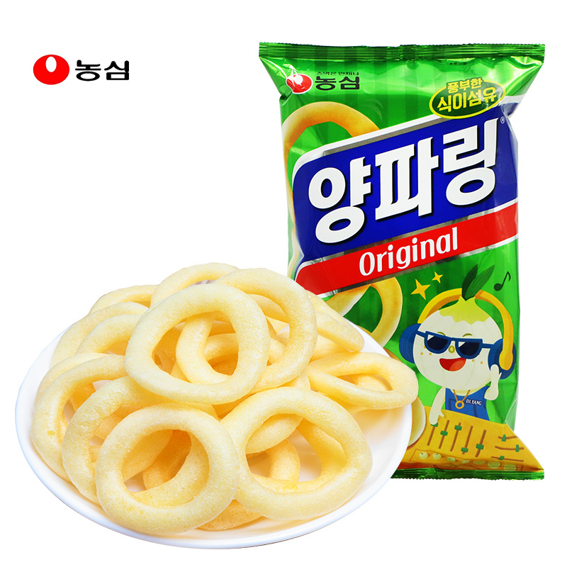 South Korea imported food Nongxin original onion ring 84g office leisure drama salty puffed snacks