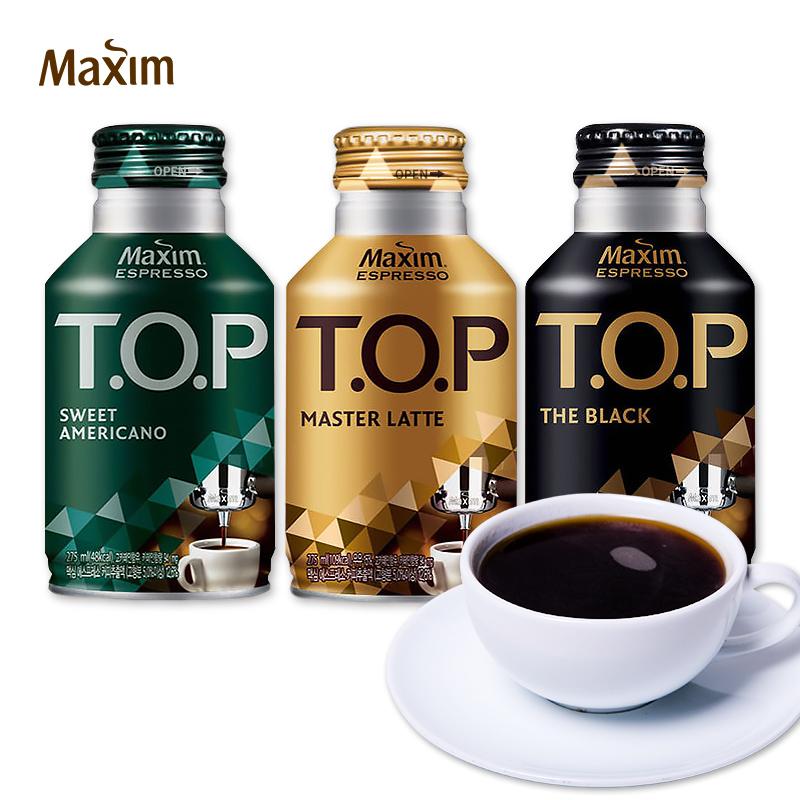 韩国进口食品东西TOP咖啡饮料275ml拿铁美式即饮易携带休闲饮品
