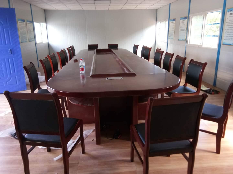 上海办公家具油漆会议桌实木贴皮大型会议长桌椭圆形桌椅组合包邮