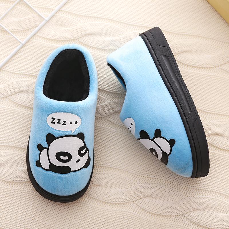 亲子冬季室内可爱防滑儿童棉拖鞋11月30日最新优惠